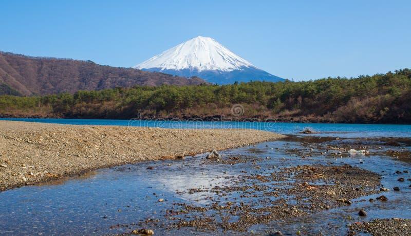 Berg Fuji i vårsäsong royaltyfri fotografi