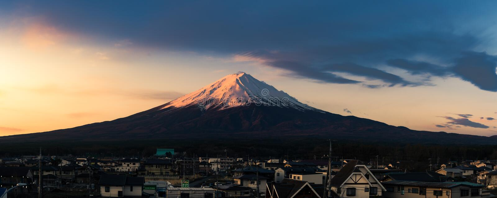 Berg Fuji in Japan lizenzfreie stockfotos