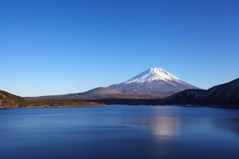 Berg Fuji und See motosu stockfotografie