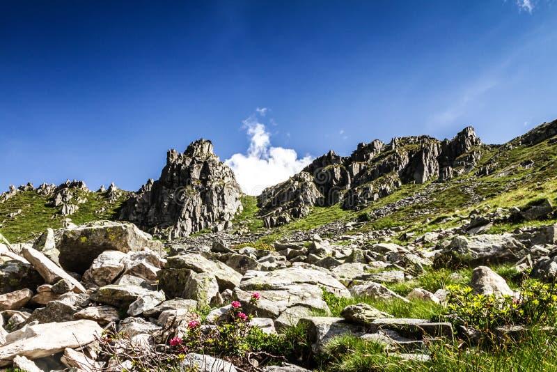 Berg Gaver in der Sommerzeit stockfoto