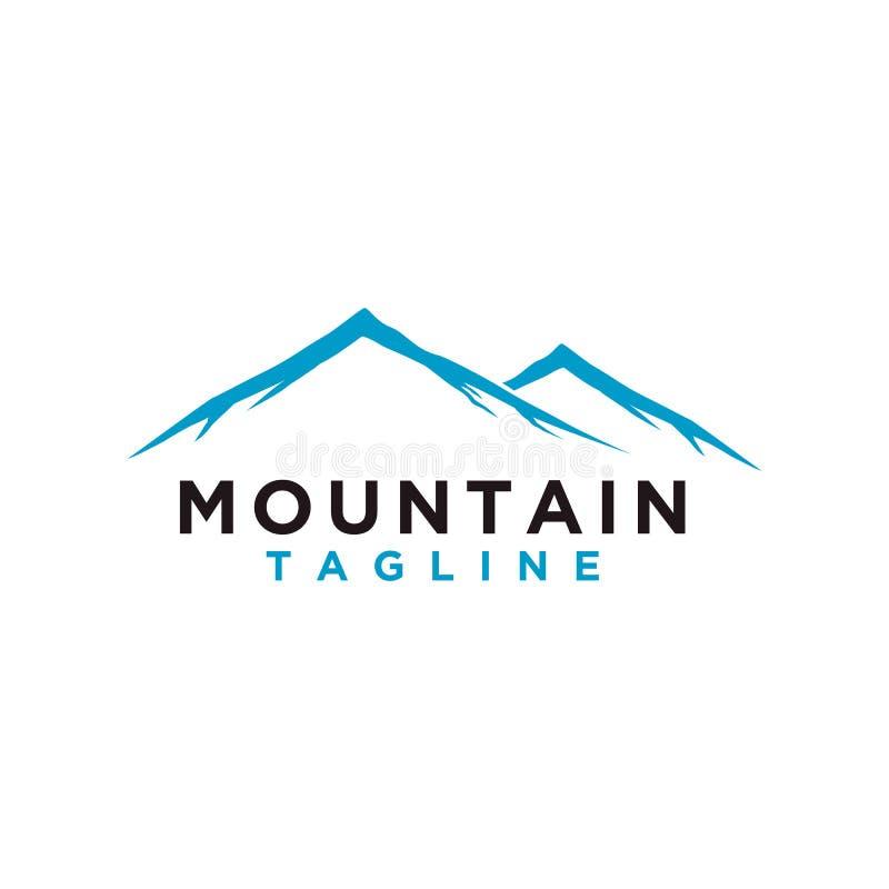 Berg of heuvel of de Piekvector van het embleemontwerp Kamp of avonturen het pictogram, Landschapssymbool en kan voor reis en toe stock illustratie