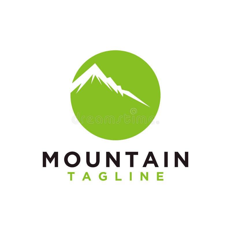 Berg of heuvel of de Piekvector van het embleemontwerp Kamp of avonturen het pictogram, Landschapssymbool en kan voor reis en toe vector illustratie