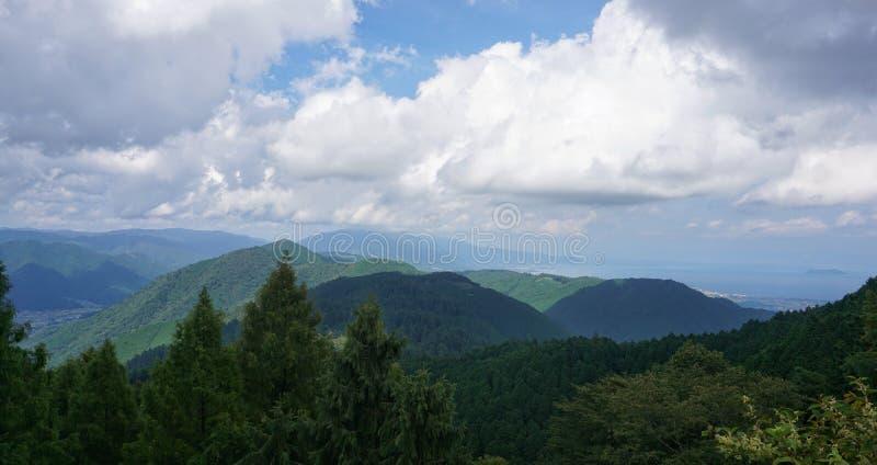 Berg Hiei-Ansicht stockfoto