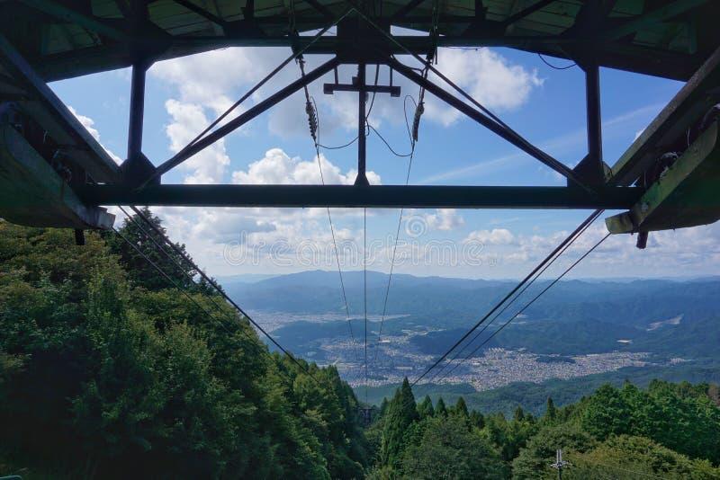 Berg Hiei-Drahtseilbahn lizenzfreie stockbilder