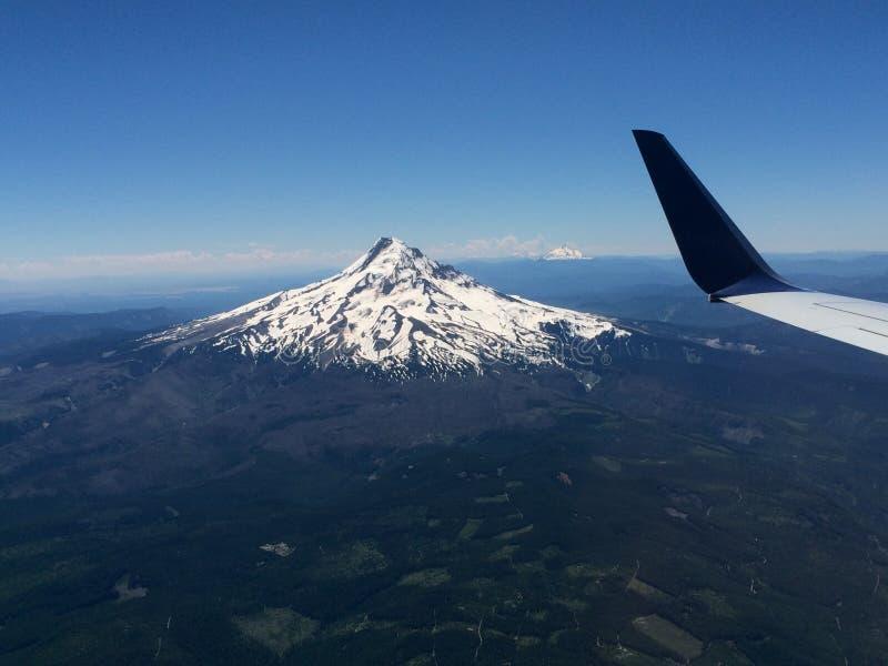 Berg Hood Viewed From ein Flugzeug lizenzfreies stockfoto