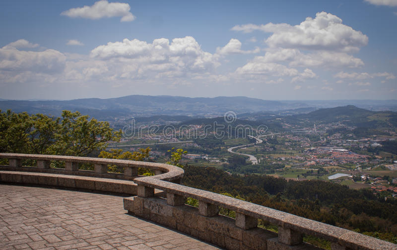 Berg Hoogste Mening Portugal royalty-vrije stock afbeelding