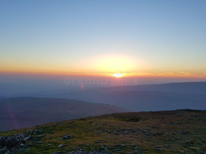 Berg hoogste zonsopgang royalty-vrije stock foto's
