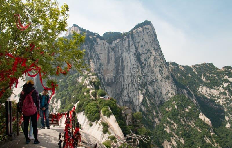 Berg Huashan China stockbilder
