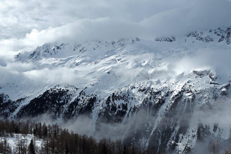 Berg i Chamonix arkivfoto
