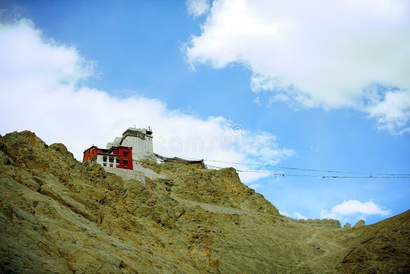 Berg i det Leh Ladakh landskapet, fördjupa från Indien till Tibet royaltyfri foto