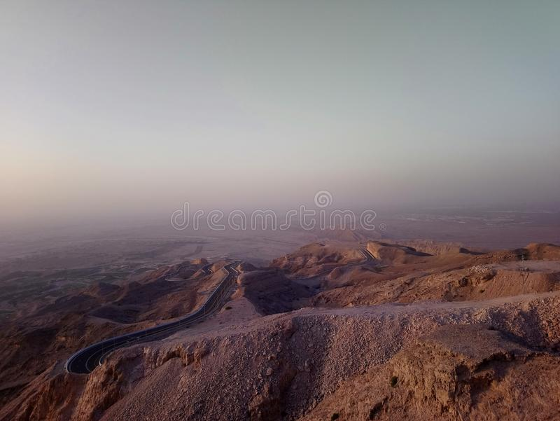 Berg Jabal Hafeet in Alain uae lizenzfreies stockbild