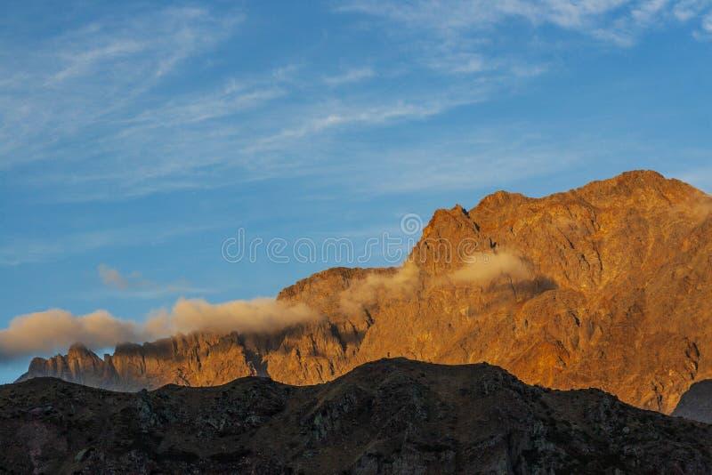 Berg in Kazbegi royalty-vrije stock foto