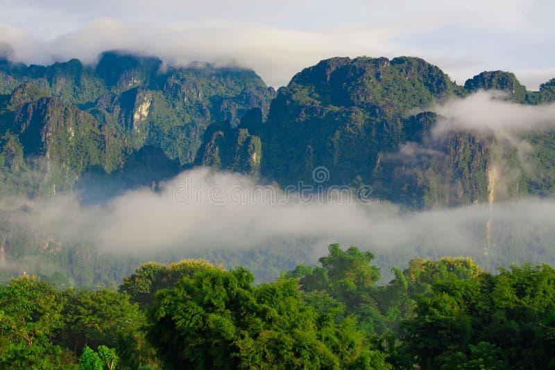 Berg in Laos stock foto