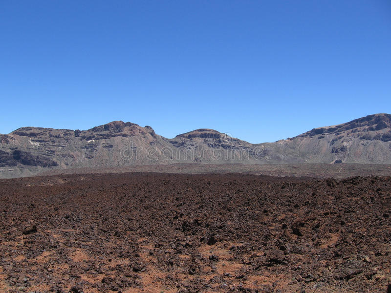 Berg Lava Fields arkivfoton