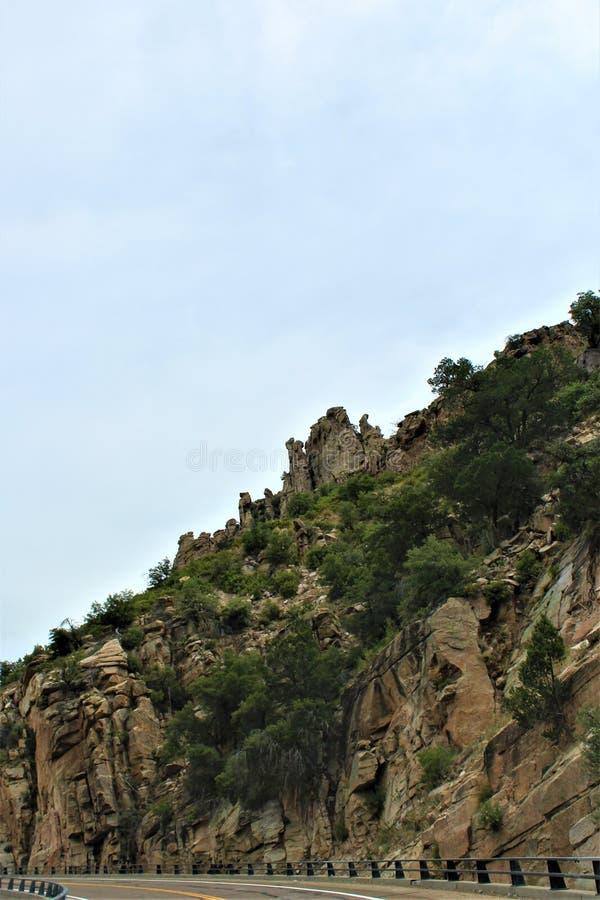Berg Lemmon, Santa Catalina Mountains, Coronado-staatlicher Wald, Tucson, Arizona, Vereinigte Staaten stockfoto
