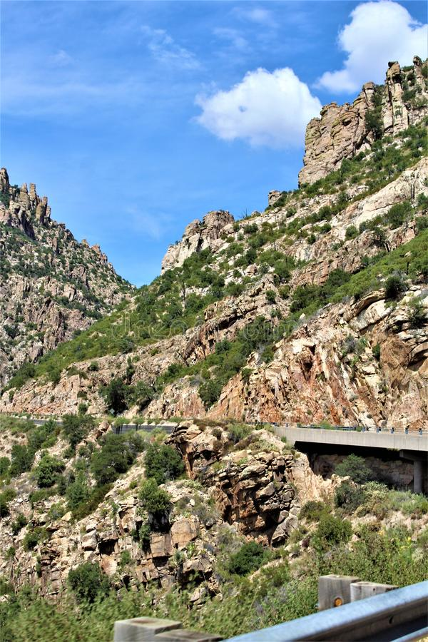 Berg Lemmon, Santa Catalina Mountains, Coronado-staatlicher Wald, Tucson, Arizona, Vereinigte Staaten lizenzfreie stockbilder