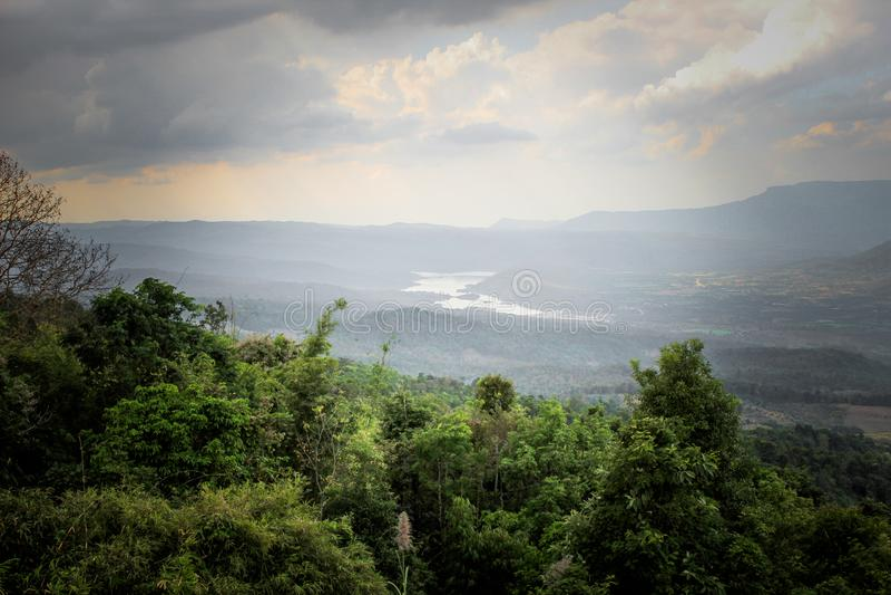 Berg Loei Thailand royaltyfri fotografi