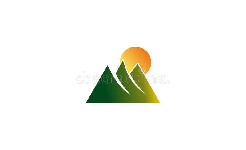 Berg Logo Design lizenzfreie stockbilder