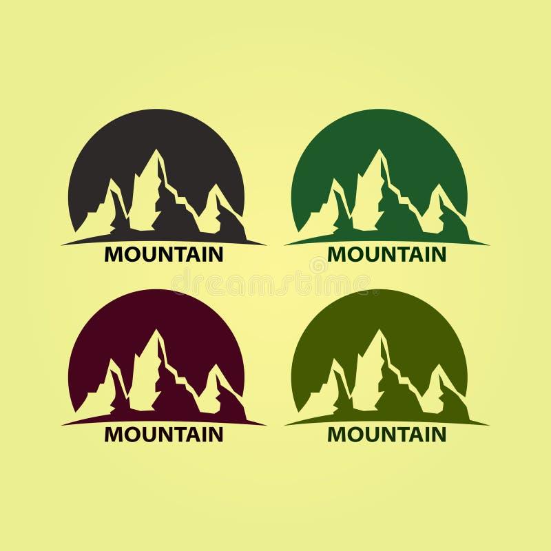 Berg Logo Design F?retagslogo, symbol royaltyfri illustrationer