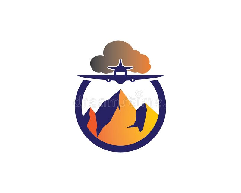 Berg Logo Template stock illustrationer