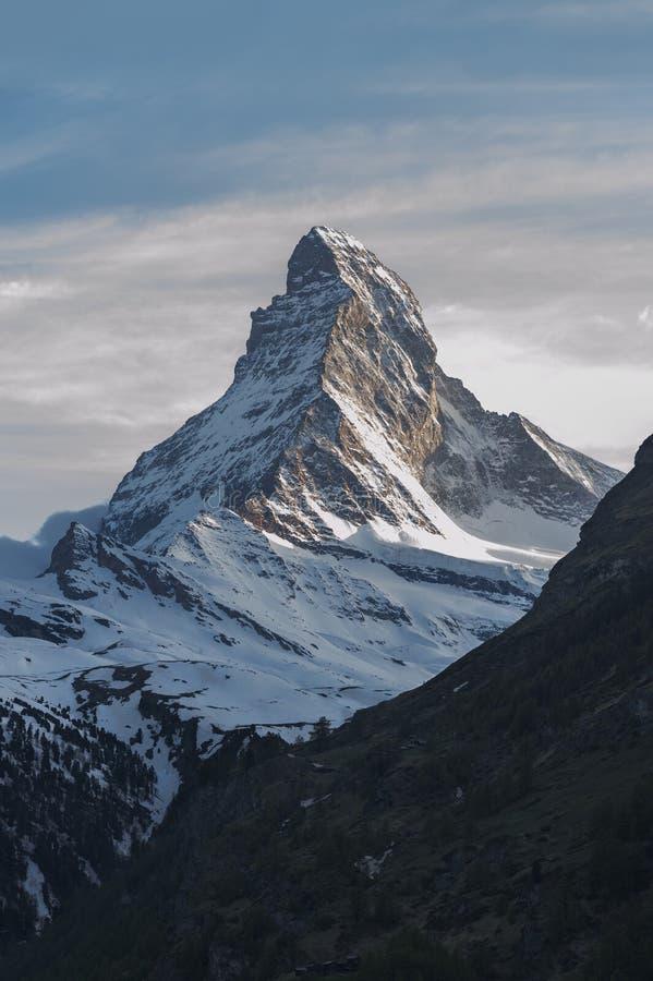 Berg Matterhorn auf Schweizer stockfotos