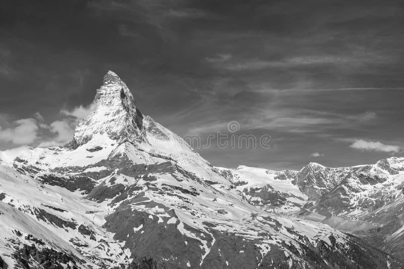 Berg Matterhorn, die Schweiz lizenzfreie stockfotografie