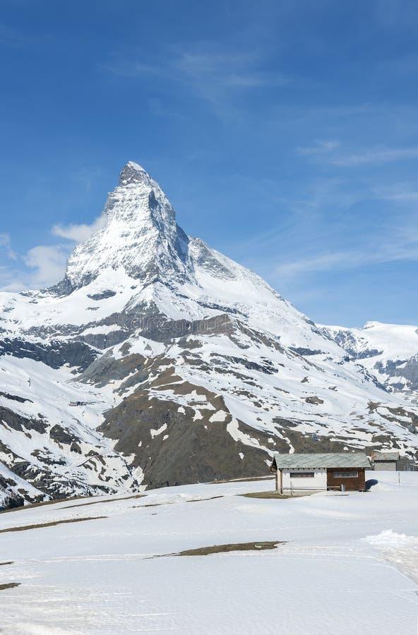 Berg Matterhorn, Zermatt, die Schweiz lizenzfreie stockfotografie