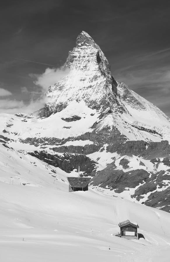 Berg Matterhorn, Zermatt, die Schweiz stockfotos
