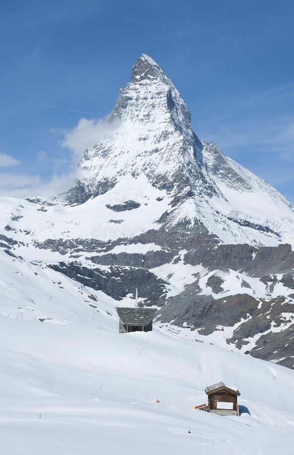 Berg Matterhorn, Zermatt, die Schweiz lizenzfreie stockfotos