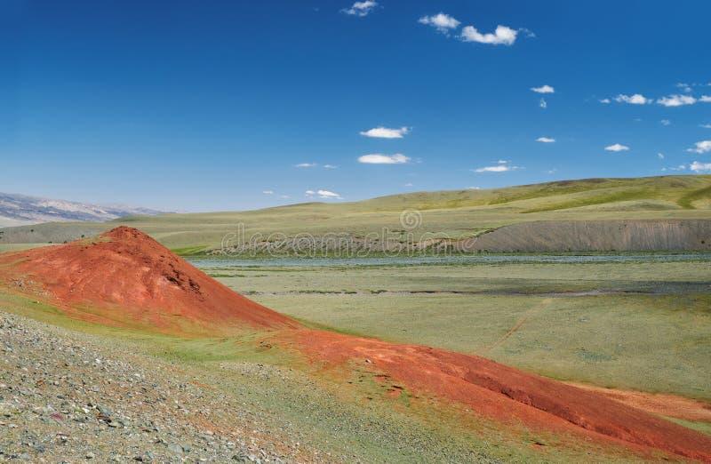 Berg Mongools natuurlijk landschap royalty-vrije stock foto