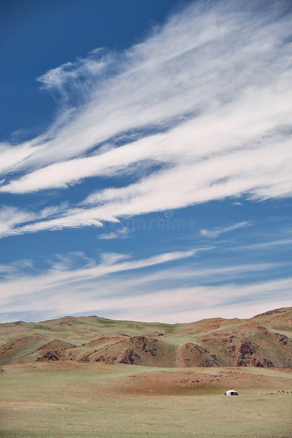 Berg Mongools natuurlijk landschap stock foto's
