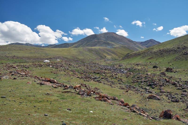 Berg Mongools natuurlijk landschap stock foto