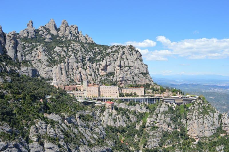 Berg Montserrat stock afbeeldingen