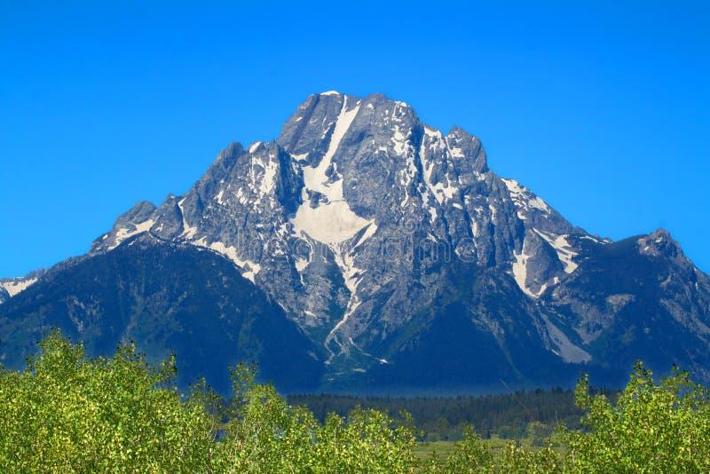Berg Moran Grand Tetons lizenzfreie stockfotos