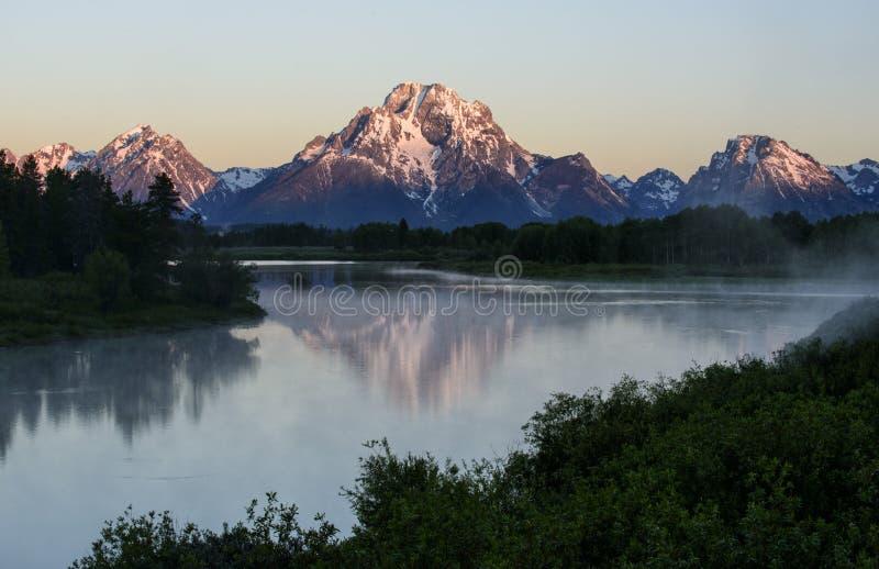 Berg Moran Sunrise stockbild