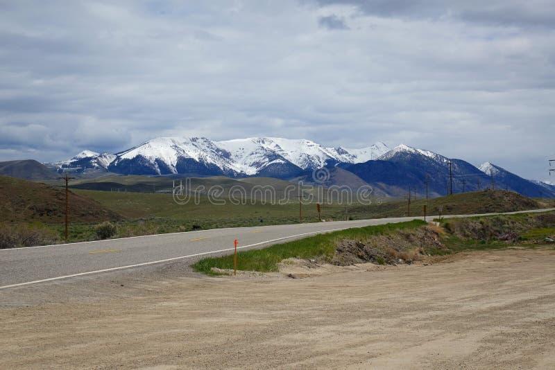 Berg nära Challis, Idaho arkivbilder