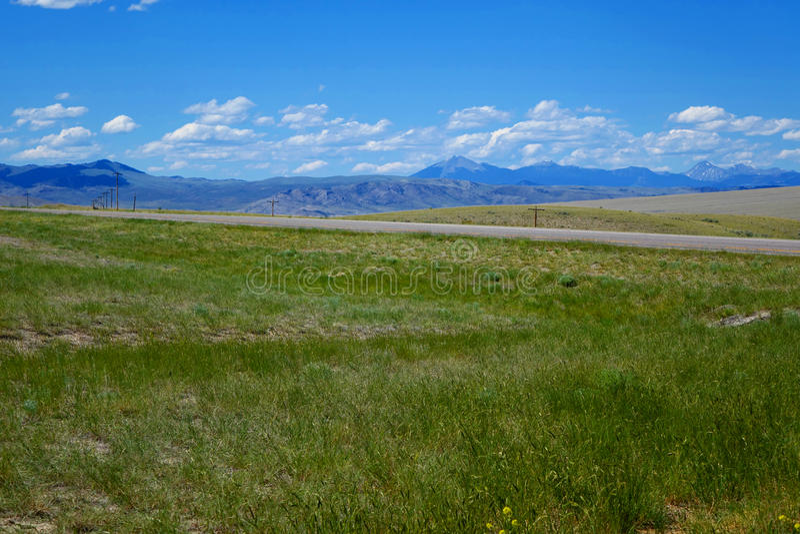 Berg nära Dillion, Montana royaltyfri bild