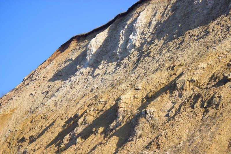 Berg na een modderstroom stock afbeelding