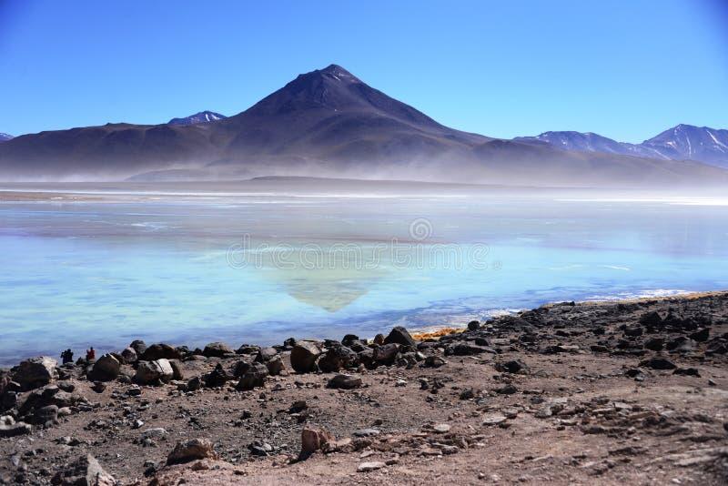 Berg naast Laguna Blanca royalty-vrije stock afbeelding