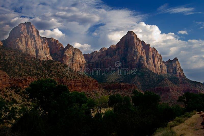 Berg in Nationaal Park Zion stock afbeelding