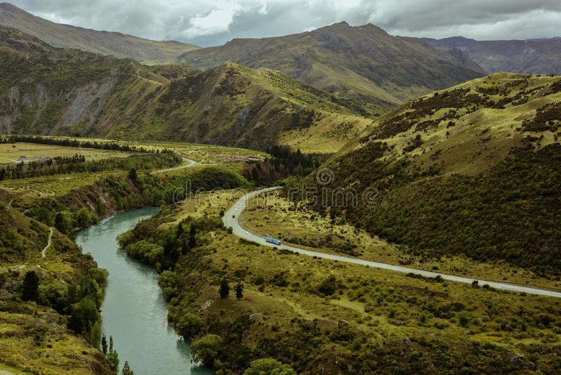 berg New Zealand royaltyfria foton