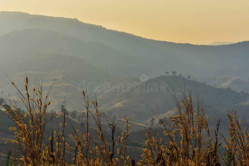Berg- och sollöneförhöjningar arkivbilder