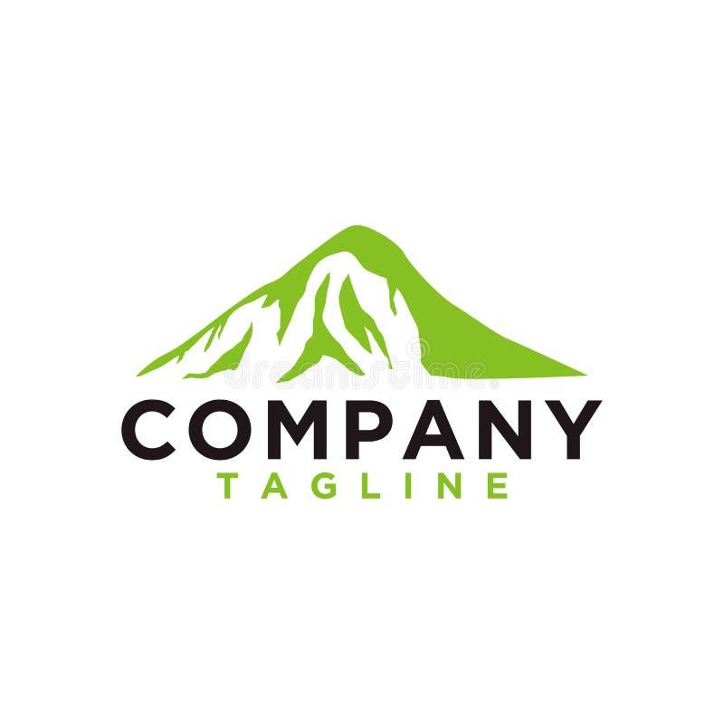 Berg oder Hügel oder Höchstlogoentwurfsvektor Lager- oder Abenteuerikone, gestalten Symbol landschaftlich und können für Reise un lizenzfreie abbildung