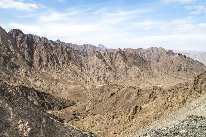 Berg Oman royaltyfria bilder