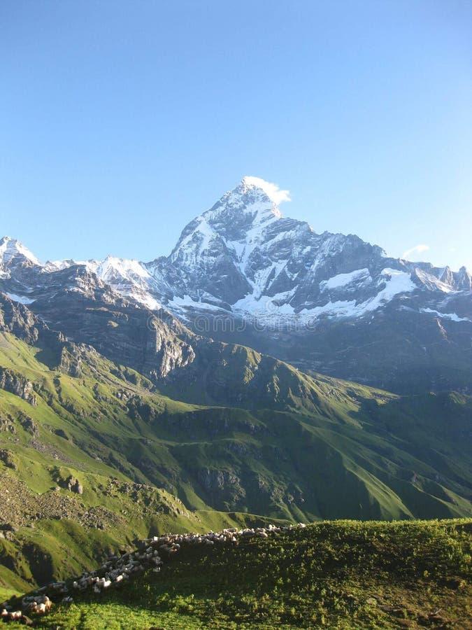 Berg in pokhara Nepal stock foto