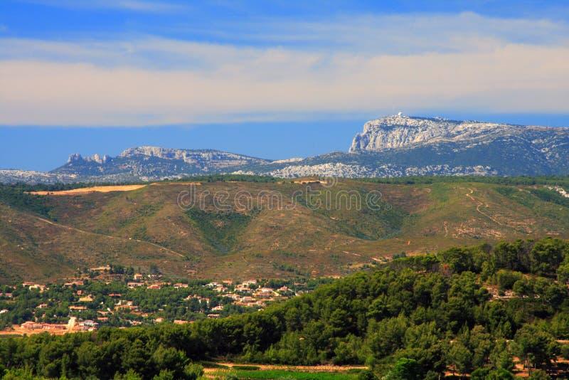 berg provence royaltyfri foto