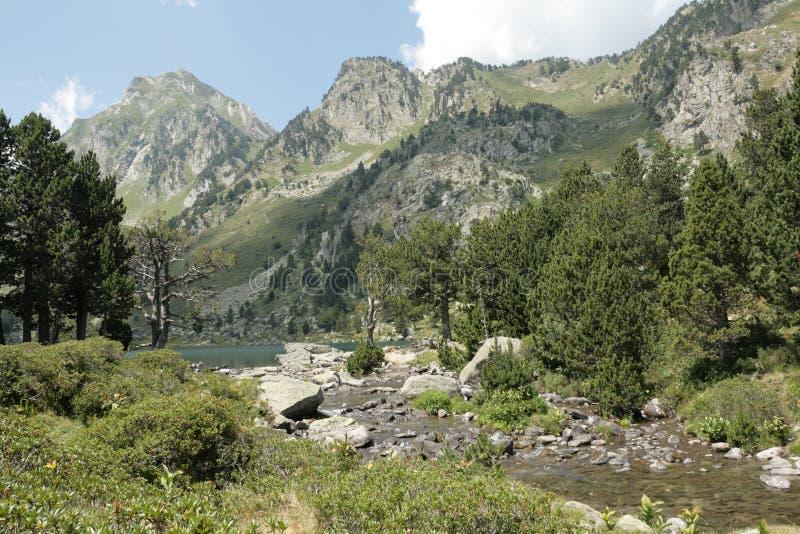 Berg in Pyrenäen lizenzfreies stockfoto