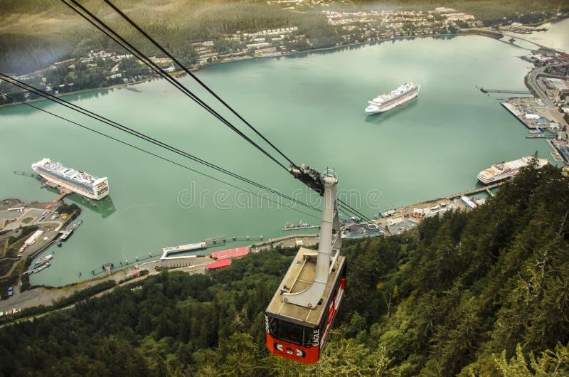 Berg Roberts Tramway Juneau Alaska lizenzfreies stockbild