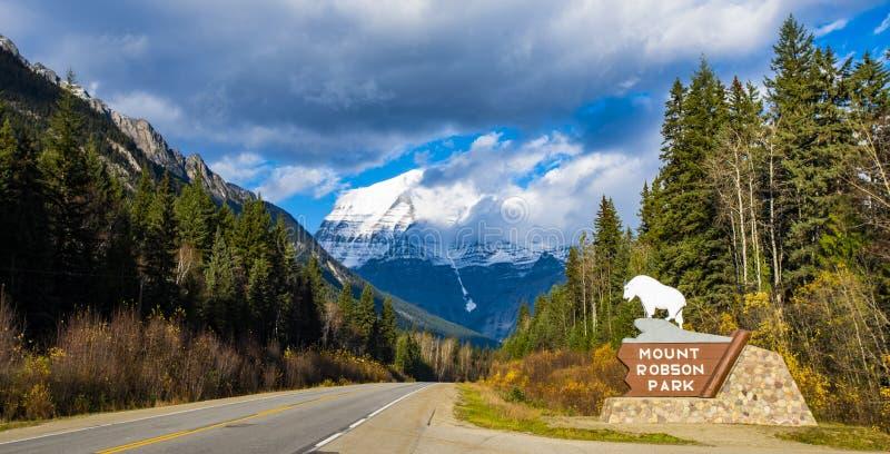 Berg Robson stockfotografie