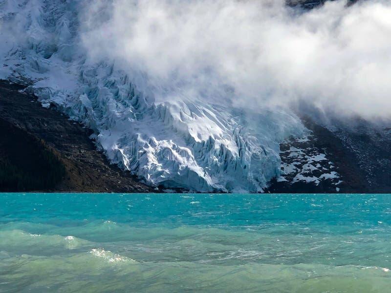 Berg Robson-Gletscher lizenzfreie stockfotos